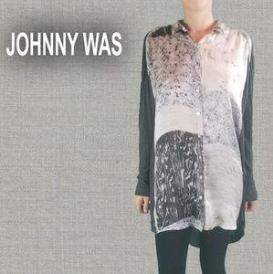 Johnny Was 100% Silk Biya Tunic